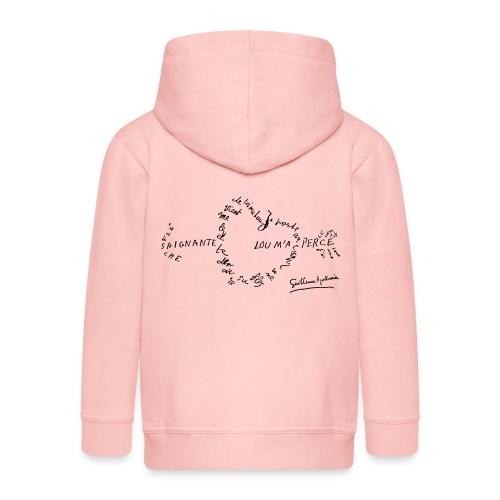 calligramme_fleche_saignante - Veste à capuche Premium Enfant