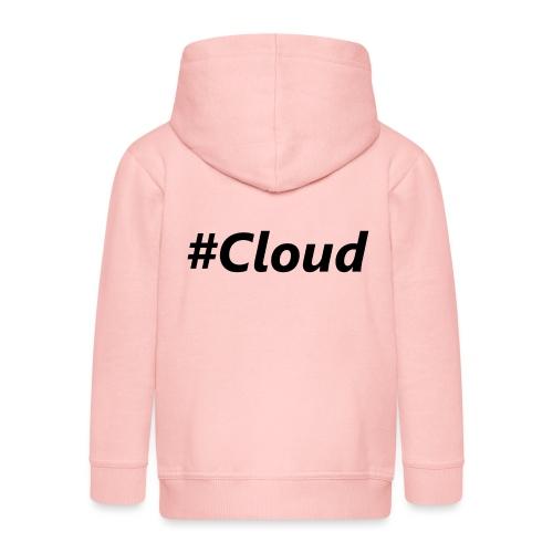 #Cloud black - Kinder Premium Kapuzenjacke