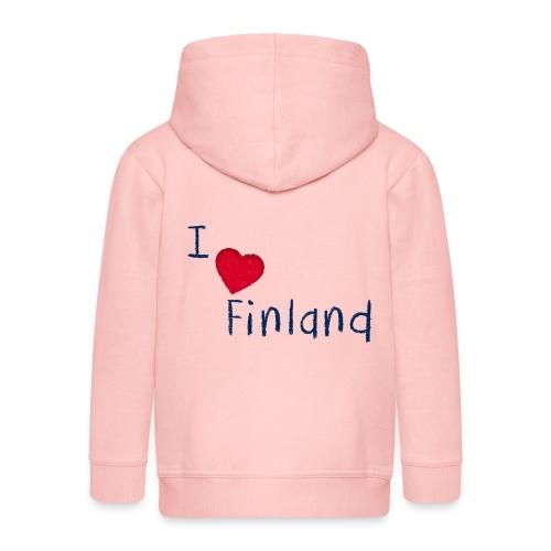 I Love Finland - Lasten premium hupparitakki