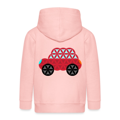The Car Of Life - M01, Sacred Shapes, Red/186 - Kids' Premium Hooded Jacket