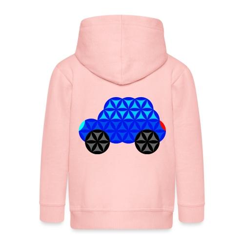 The Car Of Life - M01, Sacred Shapes, Blue/R01. - Kids' Premium Hooded Jacket