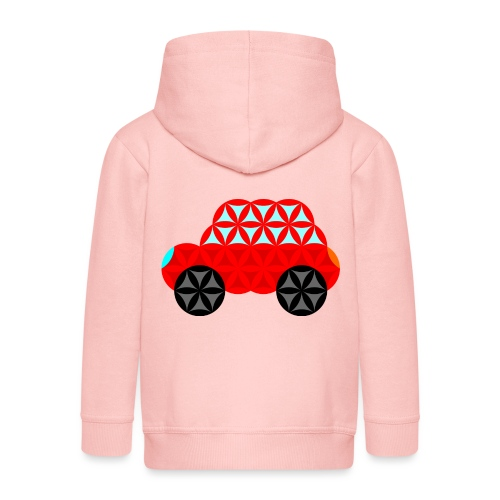 The Car Of Life - M01, Sacred Shapes, Red/R01. - Kids' Premium Hooded Jacket