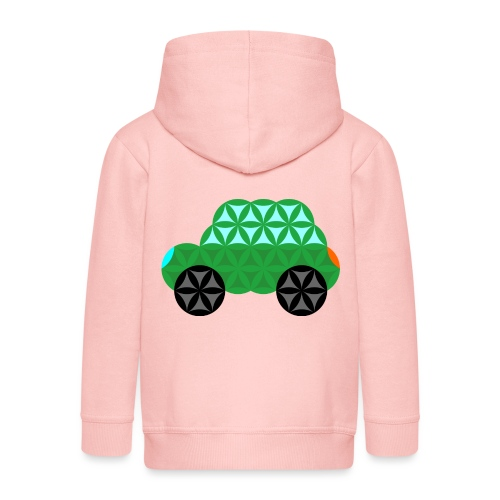 The Car Of Life - M01, Sacred Shapes, Green/363 - Kids' Premium Hooded Jacket