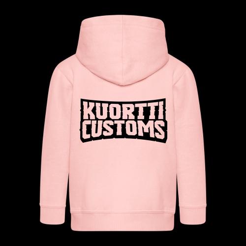 kuortti_customs_logo_main - Lasten premium hupparitakki
