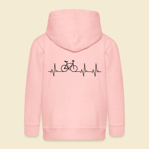 Kunstrad | Artistic Cycling | Heart Monitor Black - Kinder Premium Kapuzenjacke