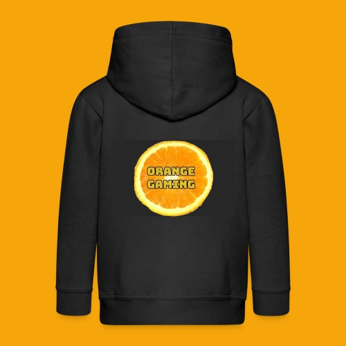 Orange_Logo_Black - Kids' Premium Zip Hoodie