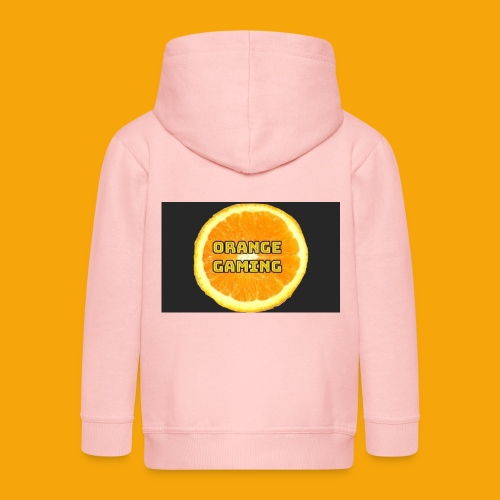 Orange_Logo_Black - Kids' Premium Zip Hoodie