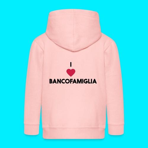 BANCOFAMIGLIA CuoreNera - Felpa con zip Premium per bambini