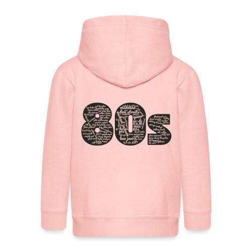 Cloud words 80s black - Kids' Premium Hooded Jacket