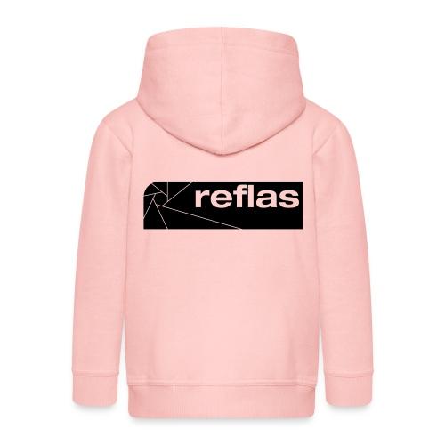 Reflas Clothing Black/Gray - Felpa con zip Premium per bambini