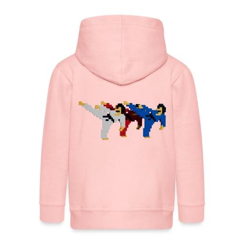 8 bit trip ninjas 2 - Kids' Premium Hooded Jacket