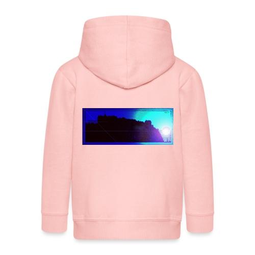 Silhouette of Edinburgh Castle - Kids' Premium Hooded Jacket