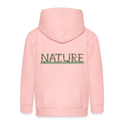 Natur - Kinder Premium Kapuzenjacke