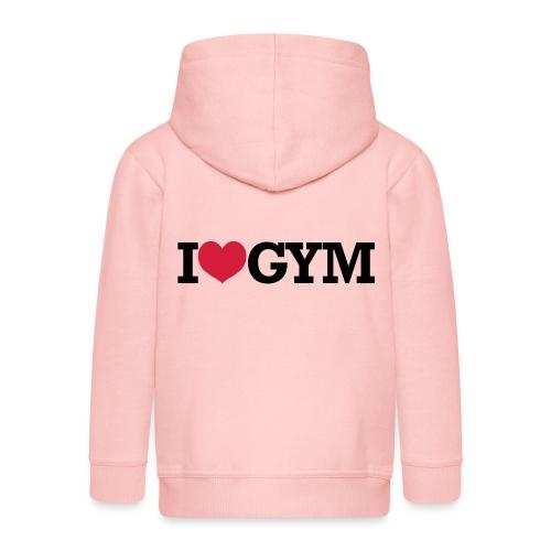 I Love Gym - Bodybuilding, Crossfit, Fitness - Kinder Premium Kapuzenjacke