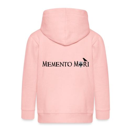 Memento mori - Felpa con zip Premium per bambini