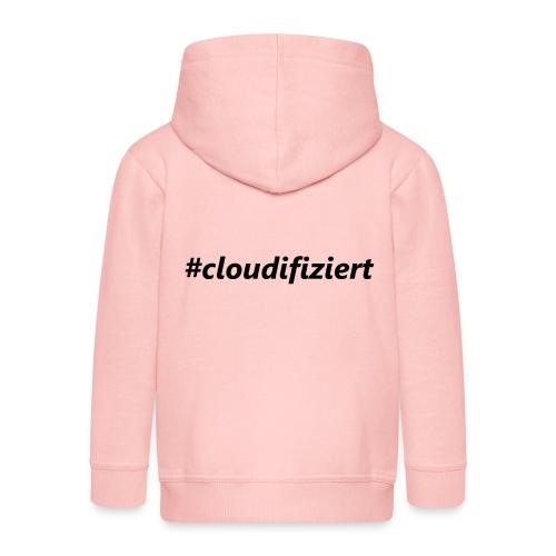 #cloudifiziert black - Kinder Premium Kapuzenjacke