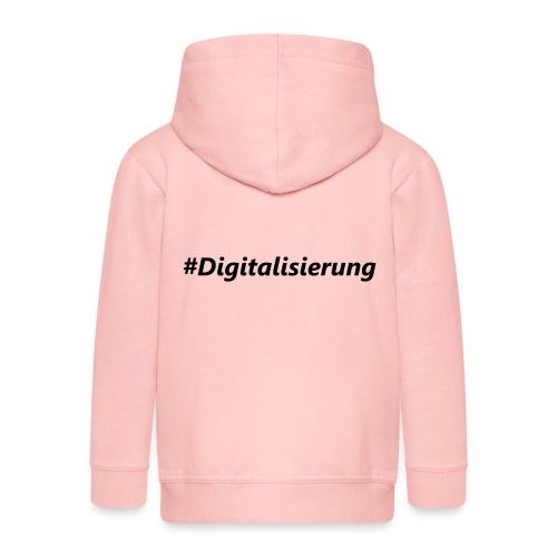 #Digitalisierung black - Kinder Premium Kapuzenjacke