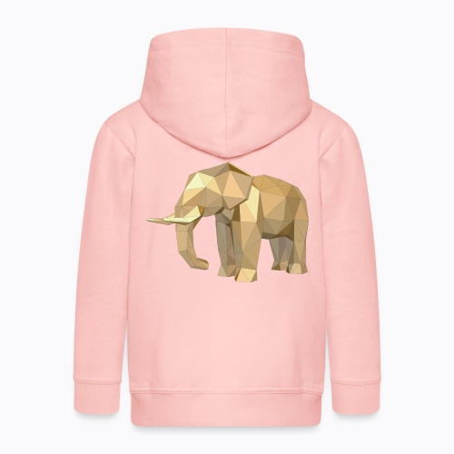 elephant geometric - Kids' Premium Zip Hoodie