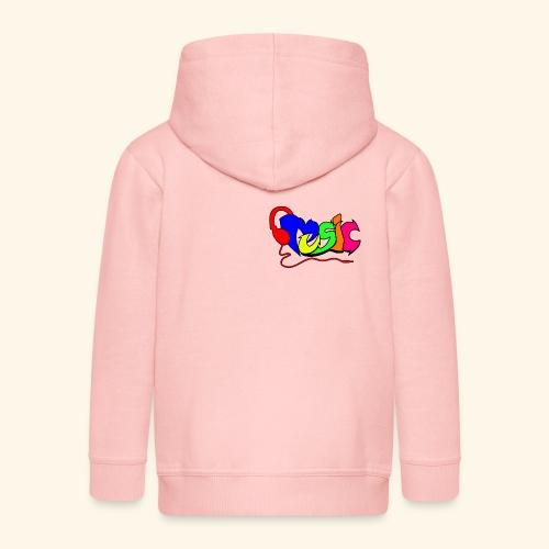 Muziek geschreven als graffiti 001 - Kinderen Premium jas met capuchon