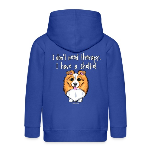 Sheltie Dog Therapy 2 - Kids' Premium Zip Hoodie