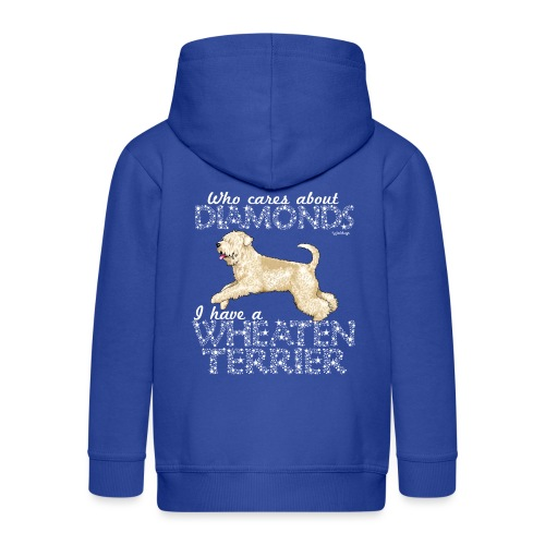 Wheaten Terrier Diamonds 4 - Kids' Premium Zip Hoodie