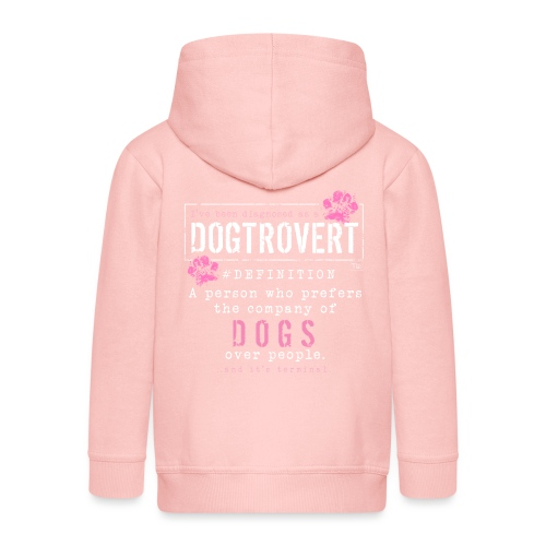 Dogtrovert Pink - Lasten premium hupparitakki