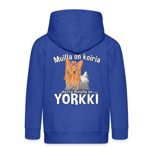 Yorkki Koiria - Lasten premium hupparitakki