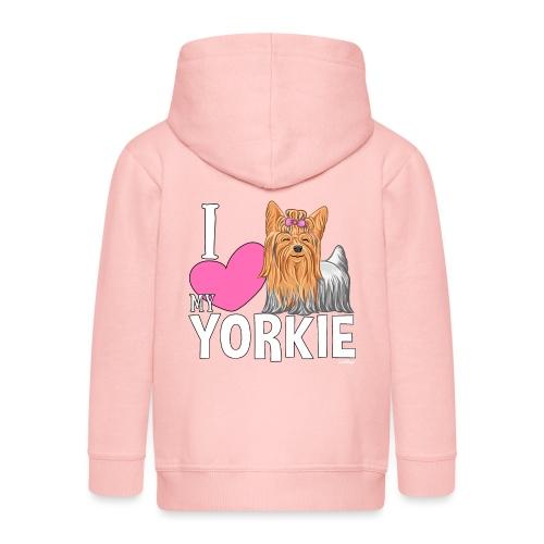 I love my Yorkie - Lasten premium hupparitakki