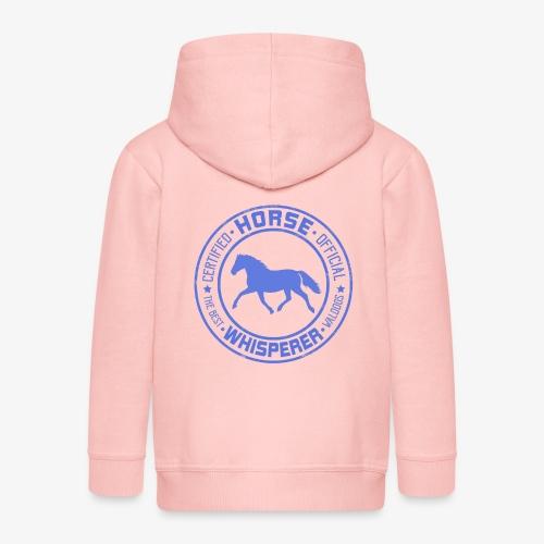 Horse Whisperer Blue - Lasten premium hupparitakki