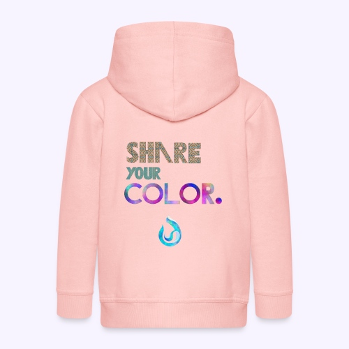 Share your color. - Felpa con zip Premium per bambini