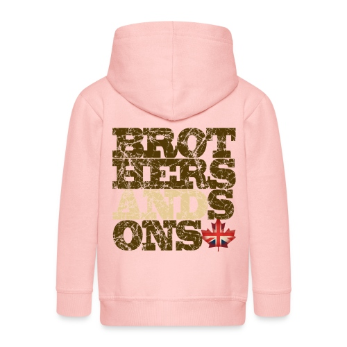 Brothers and Sons logo - dark design - Kids' Premium Zip Hoodie