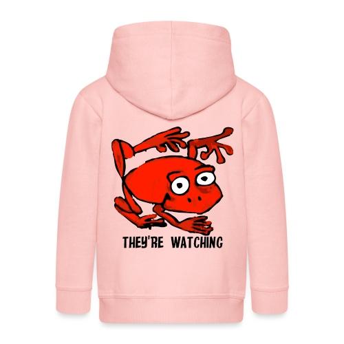 red frog - Felpa con zip Premium per bambini