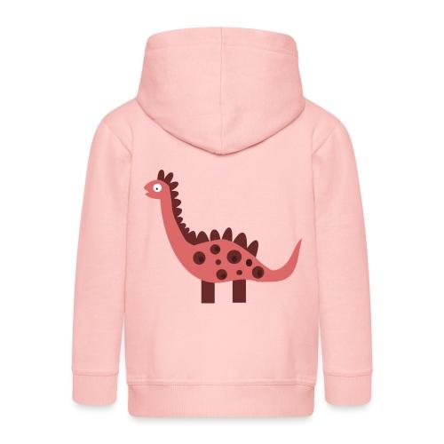 Dino pink - Kids' Premium Zip Hoodie