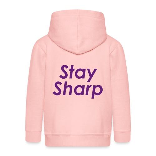 Stay Sharp - Felpa con zip Premium per bambini