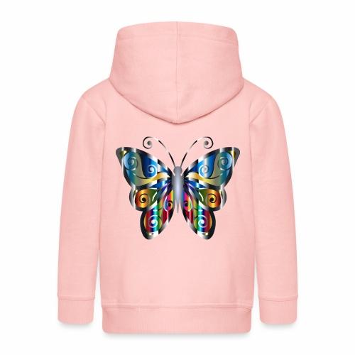 butterfly - Rozpinana bluza dziecięca z kapturem Premium