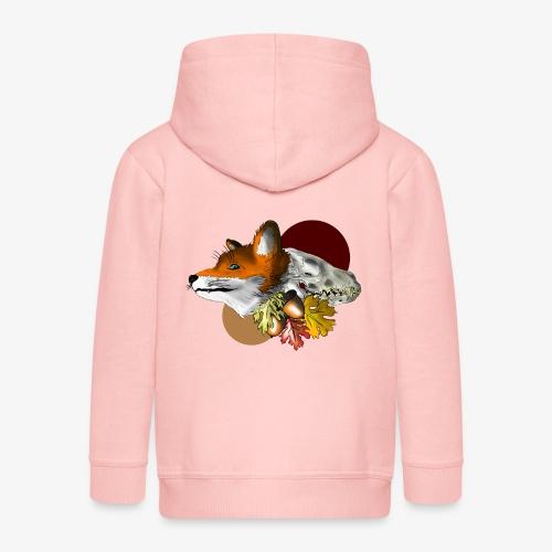 Autumn Foxey - Felpa con zip Premium per bambini