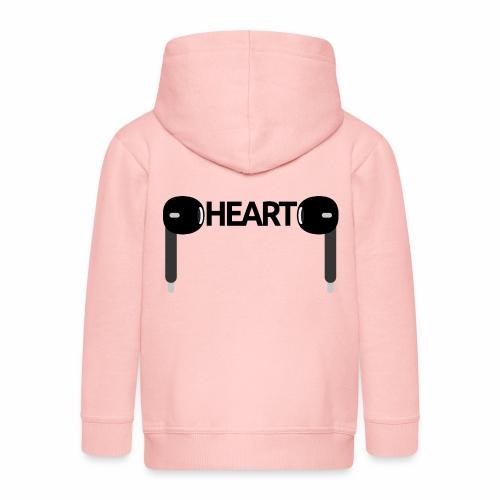 ListenToYourHeart - Rozpinana bluza dziecięca z kapturem Premium