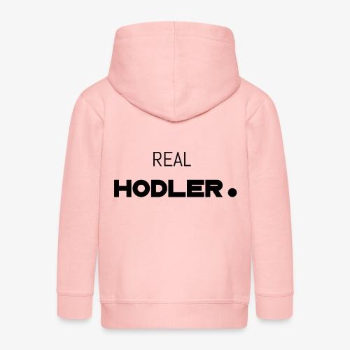 HODL-real-b - Kids' Premium Zip Hoodie