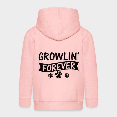 GROWLIN' FOREVER - Hundeliebhaber -Hundeliebe - Kinder Premium Kapuzenjacke