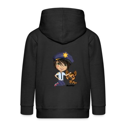 Jack and Dog - autorstwa Momio Designer Cat9999 - Rozpinana bluza dziecięca z kapturem Premium