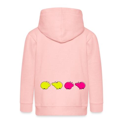 Cochons roses - Veste à capuche Premium Enfant