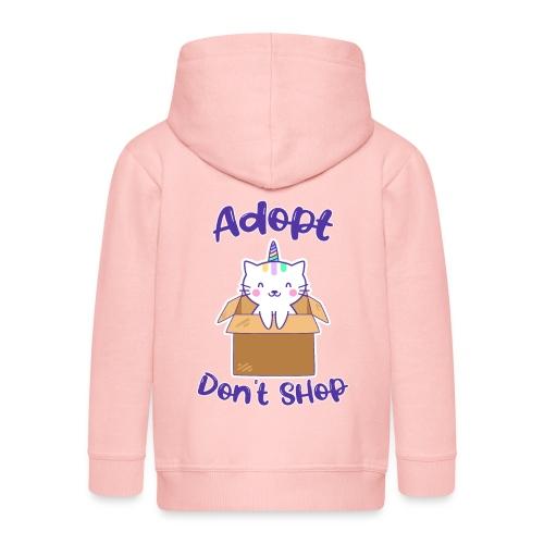 Adopt dont shop Tierheim Kinder Katzen Kitten - Kinder Premium Kapuzenjacke