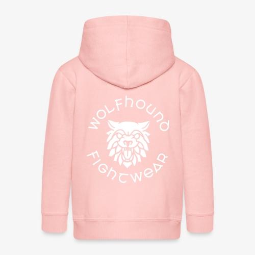 logo round w - Kids' Premium Zip Hoodie