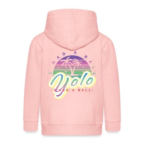 yolo - Rozpinana bluza dziecięca z kapturem Premium