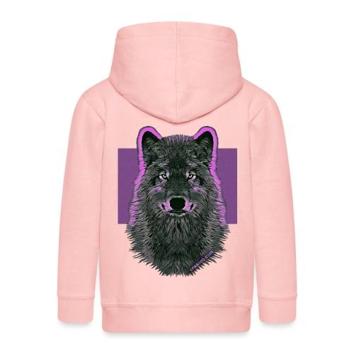 WOLF PINK IN LOVE - Kinder Premium Kapuzenjacke