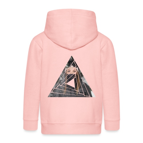 Snow Girl Triangle Graphic Design - Kinder Premium Kapuzenjacke