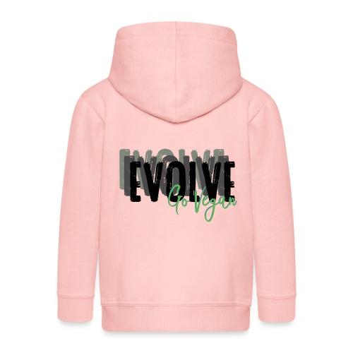Evolve go Vegan - Kids' Premium Zip Hoodie