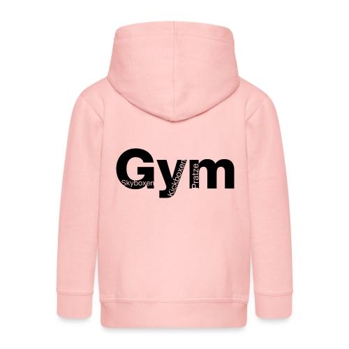 Gym Black - Kinder Premium Kapuzenjacke