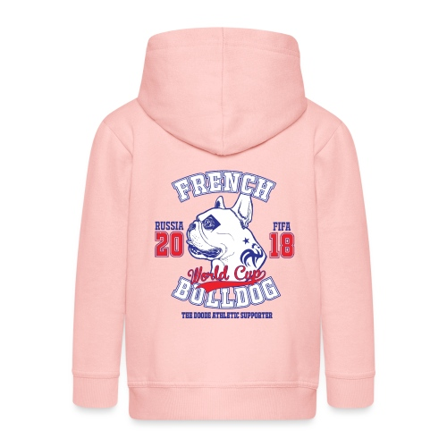 World Cup 2018 French Bulldog supporters - Veste à capuche Premium Enfant