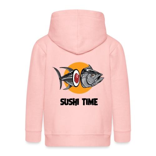SUSHI TIME-tonno-n - Felpa con zip Premium per bambini